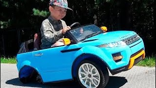 The wheel feel off on Range Rover Funny Baby accident Car Ride on POWER WHEEL | Cool boys