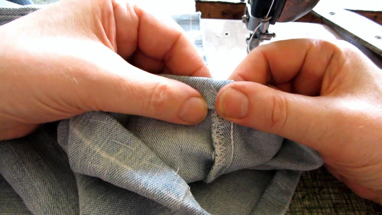 Укоротить мужские брюки в домашних условиях 496