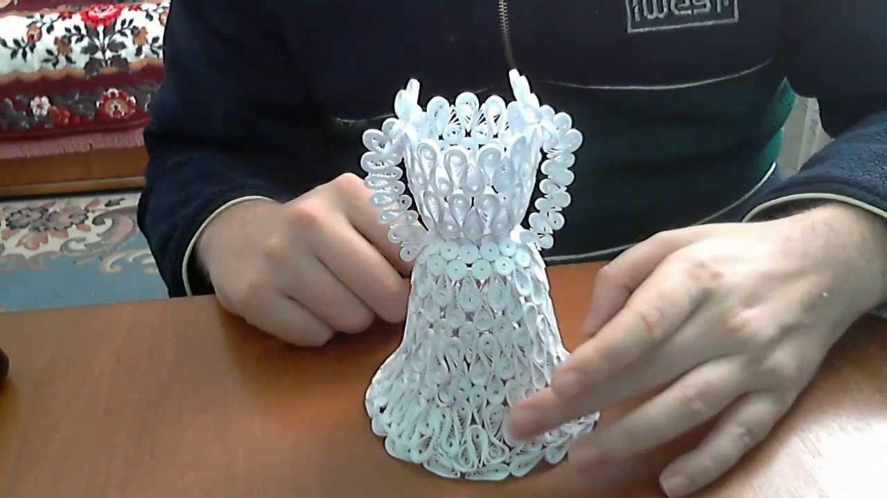 3D Quilling Wedding Dress