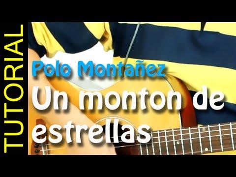 Como tocar Un monton de estrellas - Polo Montañez - en guitarra