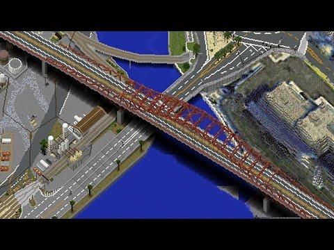 GTA 5 in Minecraft #53   RED BRIDGE + STADIUM