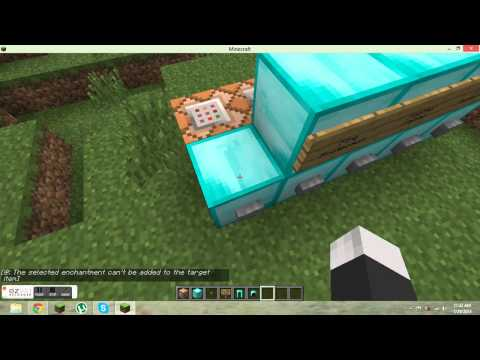 How to enchant with command blocks-Minecraft 1.5.2