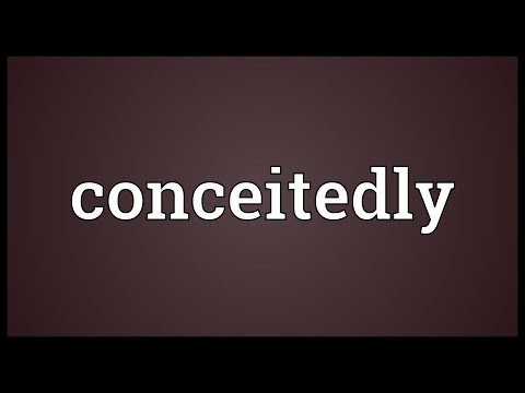 Header of conceitedly