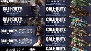 Call of Duty:Ghosts- SNOOP DOGG, WEED CAMO, GHOST&MORE DLC WITH GAMEPLAY