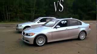 2012 BMW 3 vs Mercedes S-Class Drag Race