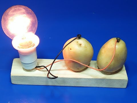 how to make free energy with potato using 220 volts bulb new project exhibition  2018 thumbnail