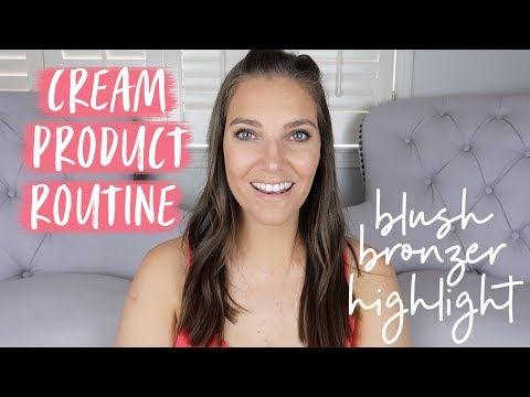 HOW TO APPLY CREAM MAKEUP PRODUCTS: Bronzer. Blush. & Highlight Tutorial   Sarah Brithinee