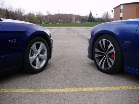 2013 Ford Mustang GT 5.0 -vs- 2012 392 Charger SRT8