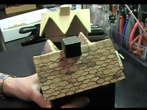 Shingled Roof On Mini Haunted House Hobby Lobby Paper