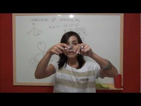 QUIMICA HIBRIDACIÓN sp3 Parte 2 - Molécula de amoníaco, NH3