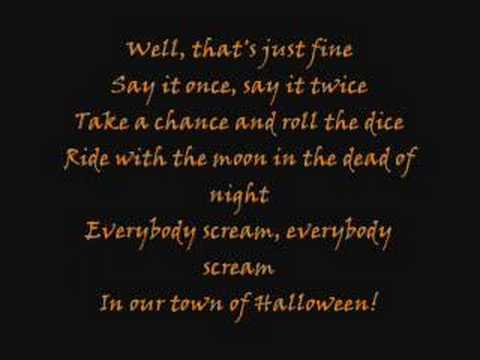 this is halloween lyrics: