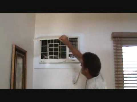 Cleaning a wall mounted air conditioning unit - YouTube