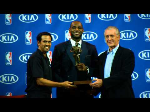 Phantom: LeBron James receives KIA NBA MVP Trophy!