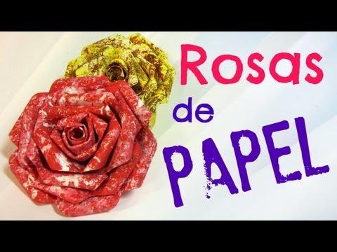Tutorial: Rosas de papel. Paper roses.