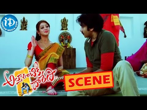 Atharintiki Daredi Movie – Pawan Kalyan And Raghu Babu Comedy Scene || Pranitha Photo Image Pic