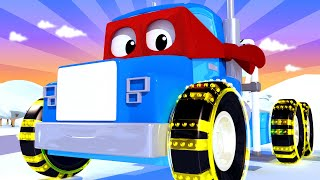 The winch truck - Carl the Super Truck - Car City ! Cars and Trucks Cartoon for kids