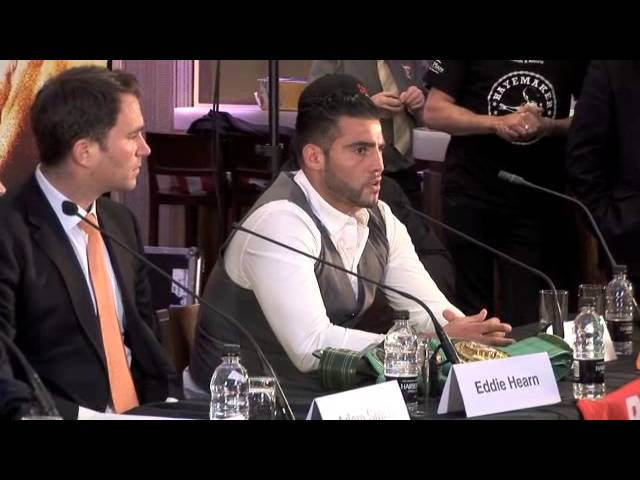 DAVID HAYE v MANUEL CHARR OFFICIAL PRESS CONFERENCE - THE HAYEMAKER RETURNS/ iFILM LONDON