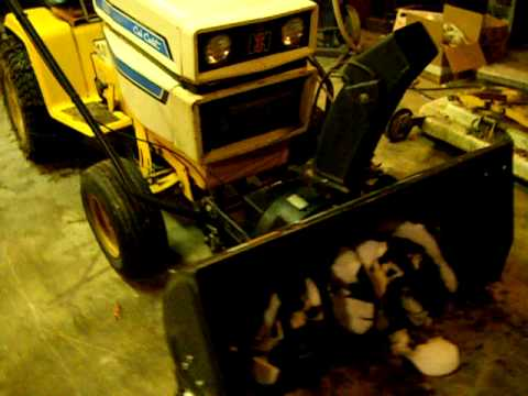 cub cadet 1450 with craftsman 2 stage snow blower