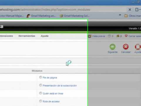Tutorial Joomla. Leccin 5 -Trabajando con componentes