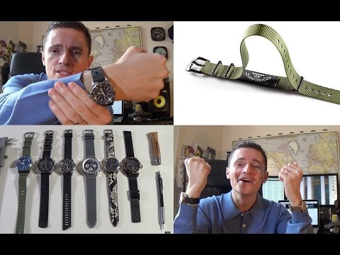 New Watch Strap & Bracelets for 2016! - Colareb, Hadley Roma, Bonnetto Cinturini & Squale Nato