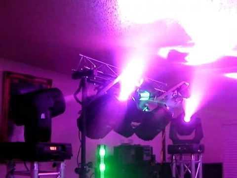 DMX LIGHT SHOW ELATION DESIGN SPOT 250 MARTIN MX10 MARTIN WIZARD EXTREME CHAUVET SHOW XPRESS