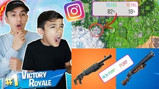 We Let Instagram Control How We Play Fortnite Challenge! Fortnite Duo With Little Brother!
