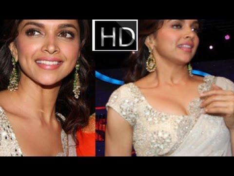Bollywood Actress Deepika Padukone Hot in Saree Photos