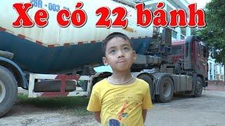 Khám phá chiếc xe tải có 22 bánh, Kênh Em Bé ✔
