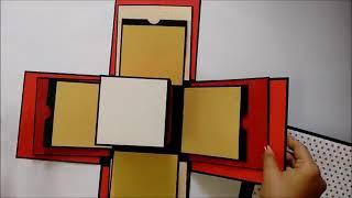 Anniversary   Valentine special explosion box tutorial   by Srushti Patil