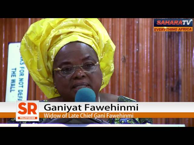 Buhari Saved My Two Sons from Maitatsine; He Will Rescue Chibok Girls -Mrs. Ganiyat Fawehinmi