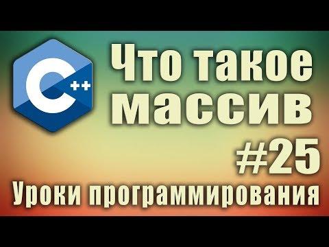 Что такое массив. Примеры. Теория. Array. Одномерный массив. Синтаксис.  C++. Урок #25.