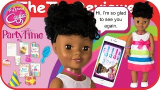 My Friend Cayla Party Time - African American Baby Doll + App Unboxing Toy Review by TheToyReviewer