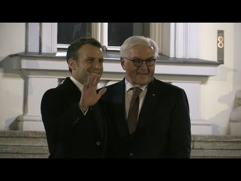 French President Macron meets German President Steinmeier in Berlin  AFP