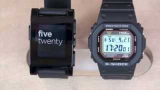 Pebble Watch vs G-Shock 5600