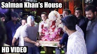 Salman Khans Ganpati Visarjan 2017 Galaxy Apartment FULL HD VIDEO Ganpati Miraunuk