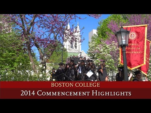 Boston College Commencement 2014 Highlights