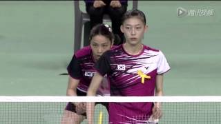 [HD] Final - WD - Luo Y. / Luo Y. vs Kim H.N. / Jung K.E. - 2014 Badminton Asia Championships