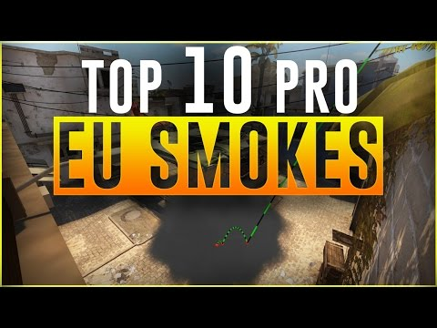 TOP 10 EU SMOKES by PRO CS:GO PLAYERS