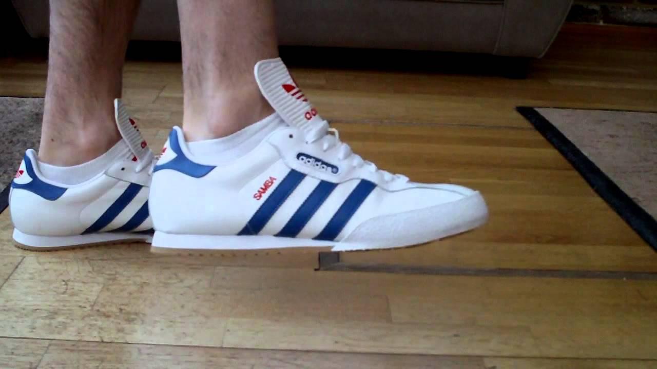 Adidas Samba on Feet Adidas Samba Super White