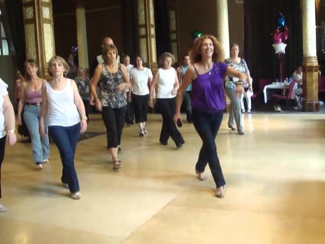 Love On Top line dance by Kate Sala - taught at World Masters Manchester 2011 - danced