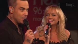 2 Become 1 Live @ Heart Radio Robbie Williams and Emma Bunton 2016