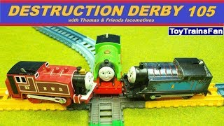 Thomas & Friends Destruction Derby #105 - Trackmaster and Plarail toy trains for kids competition