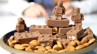LEGO Chocolate Bricks and LEGO Figures made of Kinder Chocolate
