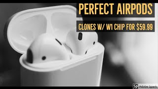 New Perfect Fake Airpods Review with W1 Chip -  Super Clones i30 TWS