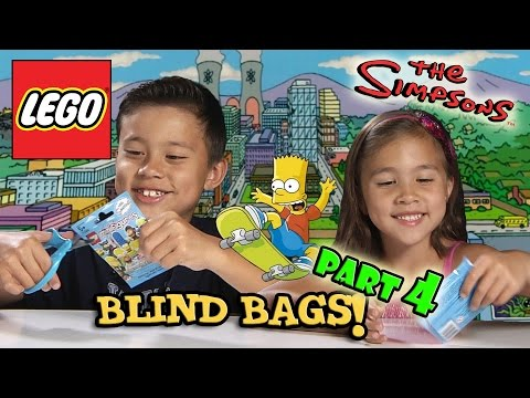 LEGO The SIMPSONS Minifigures! Blind Bag Opening PART 4
