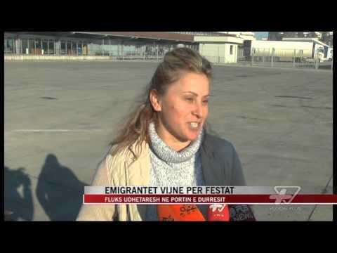 Emigrantët vijnë për festat, fluks në port - News, Lajme - Vizion Plus