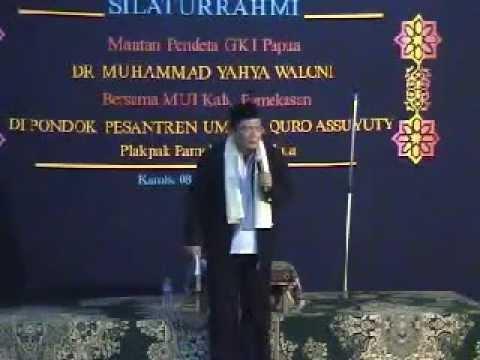 Pendeta DR. Yahya Waloni Beberkan Tentang Kristen. Part 3.