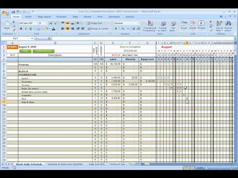Construction Cost Template Excel