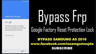 BYPASS SAMSUNG A5 2016 A510F REMOVE GOOGLE ACCOUNT FRP 2016
