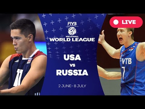 USA v Russia - Group 1 2017 FIVB Volleyball World League